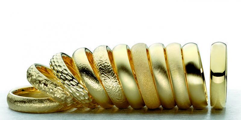 Különböző arany felületek, mattírozások
