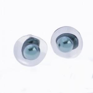 Ezüst fülbevaló igazgyönggyel