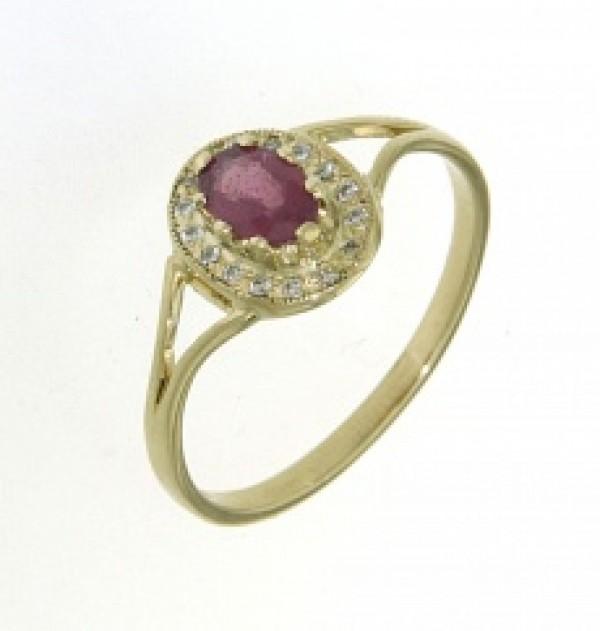 Aranygyűrű rubinnal