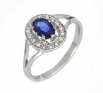 Aranygyűrű zafírral és gyémánttal