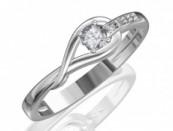 Fehérarany gyűrű gyémántkővel