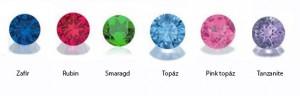 Eljegyzési gyűrű topázzal és gyémántokkal
