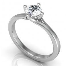Eljegyzési gyűrű fehéraranyból gyémántkővel