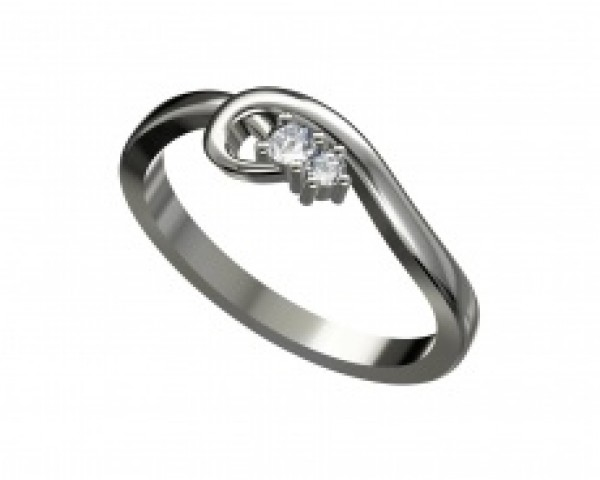 Aranygyűrű gyémánttal