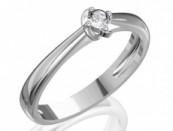 Fehérarany eljegyzési gyűrű gyémánttal