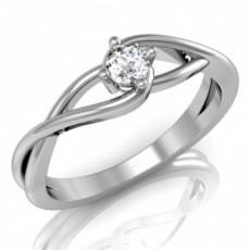 Fehérarany gyűrű gyémánt kővel