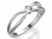 Eljegyzési gyűrű aranyból gyémánttal