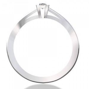 Eljegyzési gyűrű princess csiszolású gyémánttal