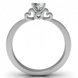 Eljegyzési fehérarany gyűrű gyémánttal