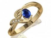 Arany gyűrű drágakövekkel