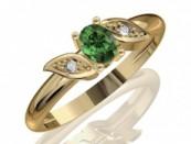 Arany gyűrű smaragd kővel