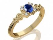 Aranygyűrű drágakövekkel