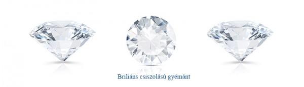 Fehérarany gyűrű zafírral és gyémántokkal