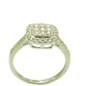 Eljegyzési gyűrű gyémántokkal