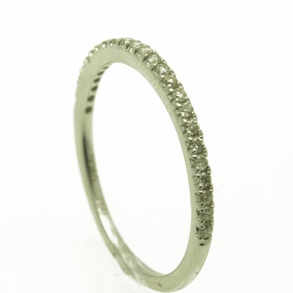 Gyémántköves fehérarany gyűrű