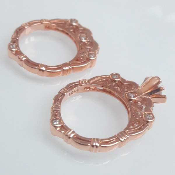 Két részes arany gyűrű