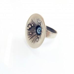 Ezüst gyűrű titániummal