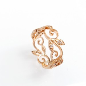 Áttört mintás arany gyűrű