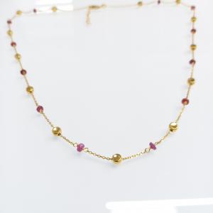Arany nyaklánc rubinnal
