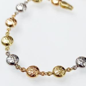 Arany karkötő háromszínű aranyból