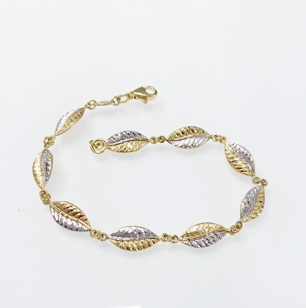 Arany karkötő kétszínű aranyból