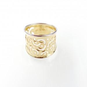 Arany gyűrű áttört mintával
