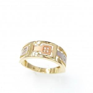 Háromszínű arany gyűrű