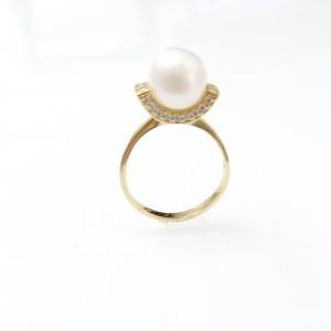 Arany gyűrű igazgyönggyel