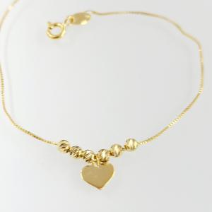 Arany karkötő szív formájú rátéttel