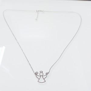 Fehérarany nyaklánc angyal medállal