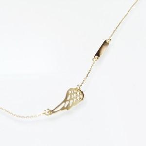 Arany nyaklánc angyalszárny medállal