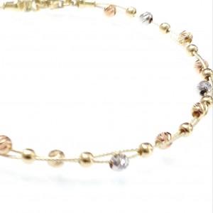 Arany karlánc háromszínű aranyból