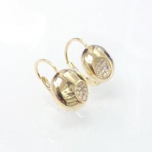 Arany fülbevaló Swarovski cirkónia kövekkel