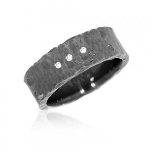 Karikagyűrű fekete rhódiummal