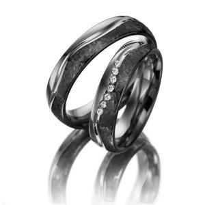 Fehérarany karikagyűrű fekete rhódium bevonattal