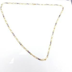 Arany lánc kétszínű aranyból