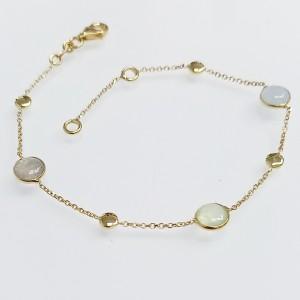 Arany karkötő labradorite kővel